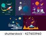 space and universe | Shutterstock .eps vector #427603960