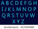english alphabet letters design ... | Shutterstock . vector #427604680