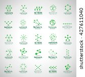 network icons set   isolated on ... | Shutterstock .eps vector #427611040