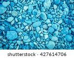 Blue Vintage Pebbles Background