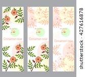 herbal tea collection. cinnamon ... | Shutterstock .eps vector #427616878