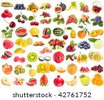 large collection set of  fruit ... | Shutterstock . vector #42761752