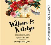 wedding invitation with... | Shutterstock .eps vector #427622914