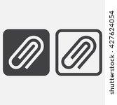 attachment line icon  paper...