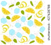 pattern lemonade  carbonated... | Shutterstock .eps vector #427628788