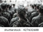 women in the army  ukrainian... | Shutterstock . vector #427632688