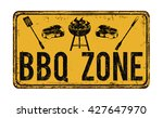 bbq barbecue zone vintage rusty ... | Shutterstock .eps vector #427647970