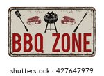 bbq barbecue zone vintage rusty ... | Shutterstock .eps vector #427647979