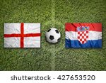 england vs. croatia flags on a... | Shutterstock . vector #427653520