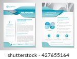 vector brochure flyer design... | Shutterstock .eps vector #427655164