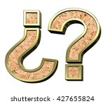 question mark from cork with... | Shutterstock . vector #427655824
