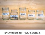 the concept of saving money for ... | Shutterstock . vector #427660816