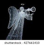 luminous figure of an angel... | Shutterstock . vector #427661410