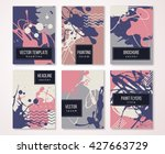 brochure template design set... | Shutterstock .eps vector #427663729