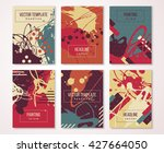 set of creative painted cards....   Shutterstock .eps vector #427664050