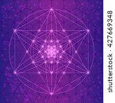 sacred spiritual geometry... | Shutterstock .eps vector #427669348
