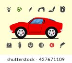 infographic template with car... | Shutterstock .eps vector #427671109