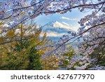 fuji and fujiyoshida | Shutterstock . vector #427677970