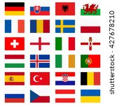 flags of national teams of... | Shutterstock .eps vector #427678210