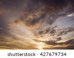 dramatic sunset sky  | Shutterstock . vector #427679734