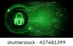 safety concept  closed padlock... | Shutterstock .eps vector #427681399