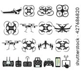 set of aerial drone footage... | Shutterstock .eps vector #427686820