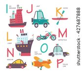 vector alphabet transport in...   Shutterstock .eps vector #427687888