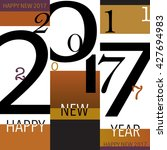 typographic  holiday graphic... | Shutterstock .eps vector #427694983