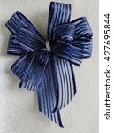 Small photo of Blue Bow ribbon, Bow Gift.