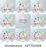 startup vector circle... | Shutterstock .eps vector #427702408