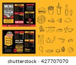 restaurant fast foods menu on... | Shutterstock .eps vector #427707070