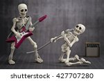 A Skeleton Playing Electric...