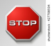 stop icon no entry road sign  | Shutterstock . vector #427708534