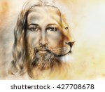 Painting Of Jesus With A Lion ...