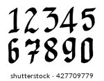 numbers 0 9 written with a... | Shutterstock .eps vector #427709779