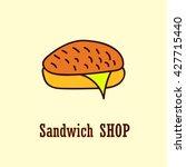 sandwich logo template. vector... | Shutterstock .eps vector #427715440