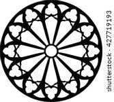 gothic rosette window pattern ... | Shutterstock .eps vector #427719193