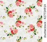 seamless floral pattern three... | Shutterstock .eps vector #427724914