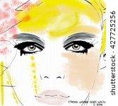 fashion potrait watercolor | Shutterstock . vector #427725256