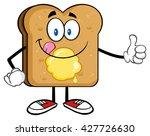 toast bread slice cartoon... | Shutterstock .eps vector #427726630
