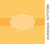 vintage greeting card template. ... | Shutterstock . vector #427737580