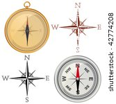 set of vector compass and wind...   Shutterstock .eps vector #42774208