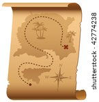 old treasure map | Shutterstock .eps vector #42774238