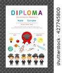 certificates kindergarten and... | Shutterstock .eps vector #427745800
