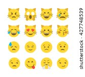 abstract funny flat style emoji ... | Shutterstock .eps vector #427748539