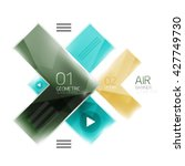 color glossy glass arrow banner.... | Shutterstock .eps vector #427749730