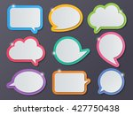 set of blank colorful paper... | Shutterstock .eps vector #427750438