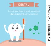 dental illustration for kids | Shutterstock .eps vector #427754224