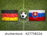 germany vs. slovakia flags on a ... | Shutterstock . vector #427758226