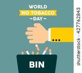 world no tobacco day. no... | Shutterstock .eps vector #427762843